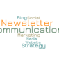 Word Art with the words Newsletter, blog, social media, communications, marketing, website
